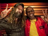 "Rob Zombie and Ernest L. Thomas on the set of ""Lords of Salem"""